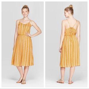 NWT Yellow Striped Dress XS